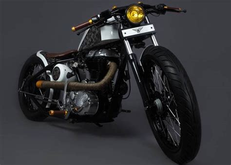 modified bullet classic 350 mg 07 royal enfield bobber by mean green custom