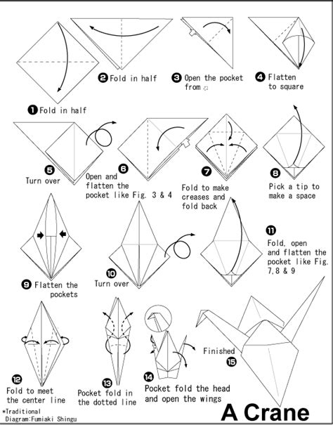 Origami Bird Pattern - origami to japan