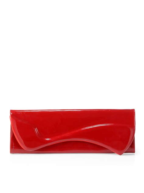 Christian Louboutin Alpaca Clutch by Christian Louboutin Pigalle Patent Leather Clutch In