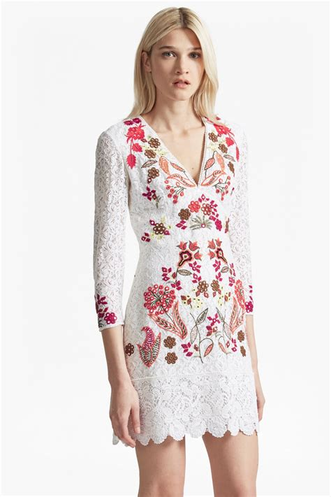 Lace Embroidered Dress legere lace floral embroidered dress dresses