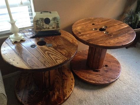 refinished   cable spools bricolage