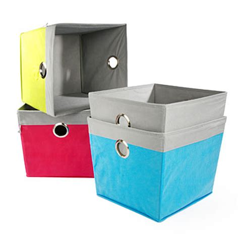 canvas storage containers view creative spaces cotton canvas storage bins deals at