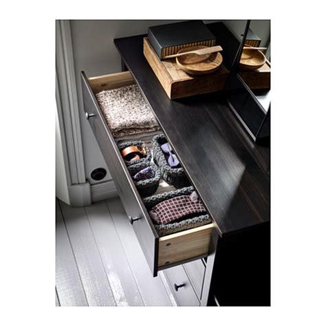 Hemnes 3 Drawer Dresser Black Brown by Hemnes Chest Of 3 Drawers Black Brown 108x95 Cm