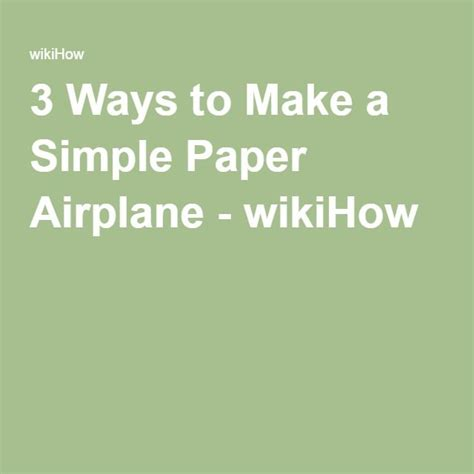 Ways To Make A Paper Airplane - 483 best images about ideas on activities