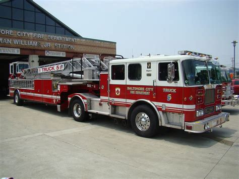 truck in baltimore baltimore city md fd truck 5 seagrave 100 tda