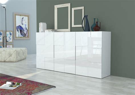 madia moderna bianca  antracite canada mobile soggiorno