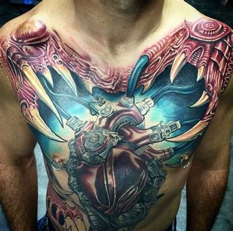 tattoo bio chest 50 3d biomechanical tattoos designs and ideas 2018