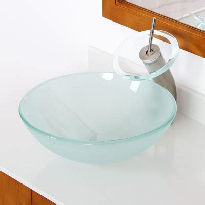 double bowl bathroom sink elite double layered tempered glass round bowl vessel