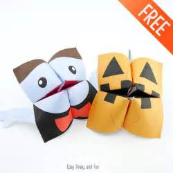 halloween cootie catchers origami for kids easy peasy