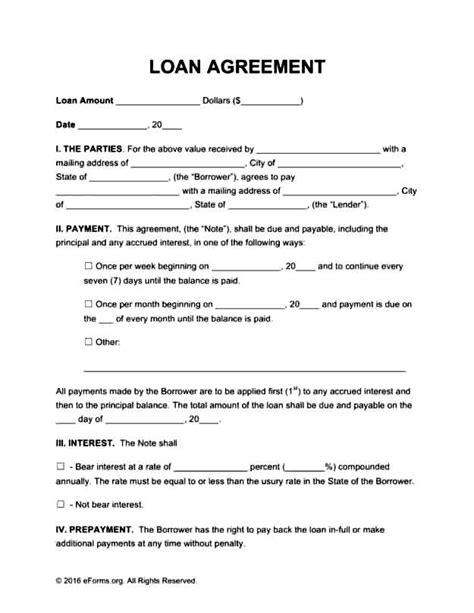 free loan agreement template templatezet