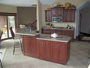 Kitchen Island With Raised Bar Custom Kitchen Cabinets Ds Woods Custom Cabinets