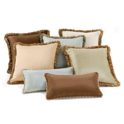 decorative pillows with fringe silk decorative throw pillows frontgate
