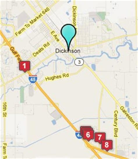 map of dickinson texas dickinson texas hotels motels see all discounts