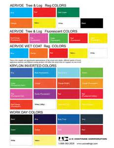 spray paint color chart spray can marking paint uc coatings