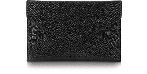 City Chic Gift Card - pineider black city chic envelope shaped calfskin business card holder at forzieri