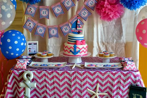 Candy Buffet Ideas For Bridal Shower by Pink Amp Blue Nautical Party Birthday Party Ideas