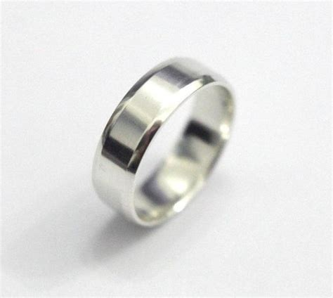 sterling silver ring band mens wedding band simple silver