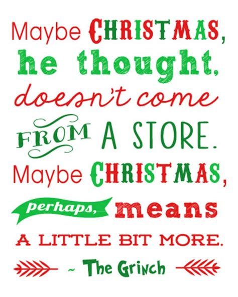 christmas printables grinch quote   happiness  homemade