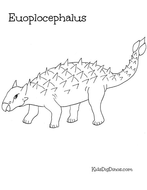 euoplocephalus coloring page dinosaur coloring pages kids dig dinos