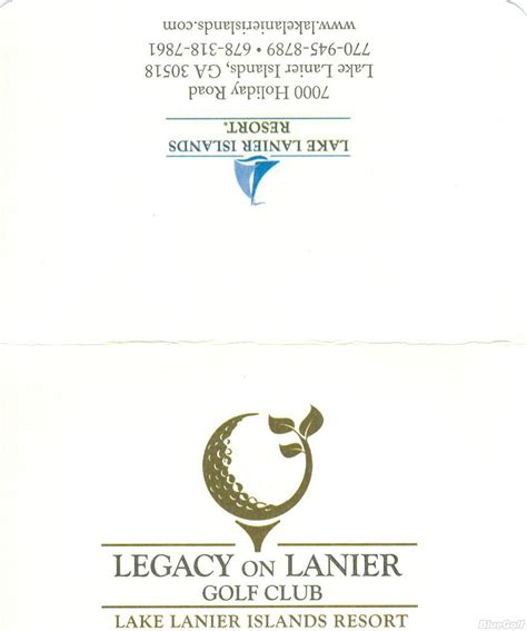 stay on course the and legacy of ennio legacy on lanier gc actual scorecard course database
