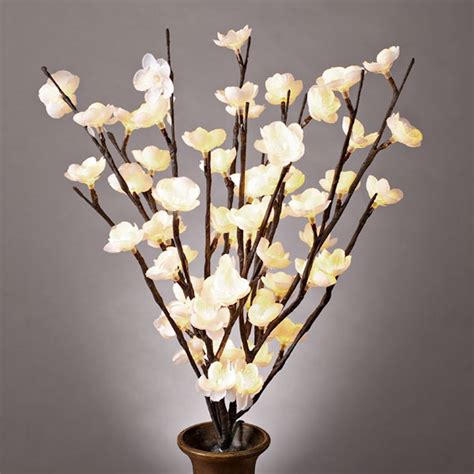 gerson 36871 20 quot white cherry blossom battery operated
