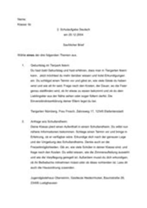 Beschwerdebrief An Lehrer 4teachers Lehrproben Unterrichtsentw 252 Rfe Und Unterrichtsmaterial F 252 R Lehrer Und Referendare