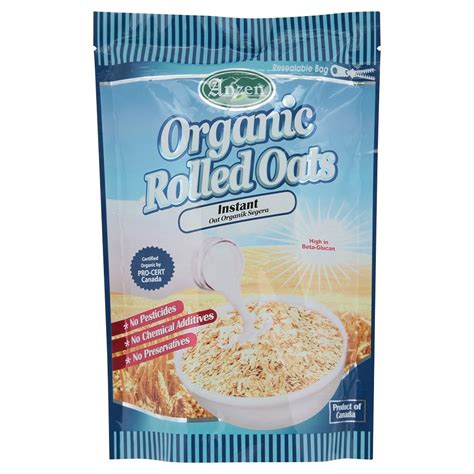 Organic Rolled Oats Sereal 500 Gr anzen instant organic rolled oats 500g 11street malaysia breakfast cereals