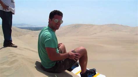 sandboarding  huacachina peru youtube