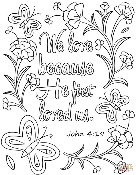 true love coloring pages we love because he first loved us coloring page free
