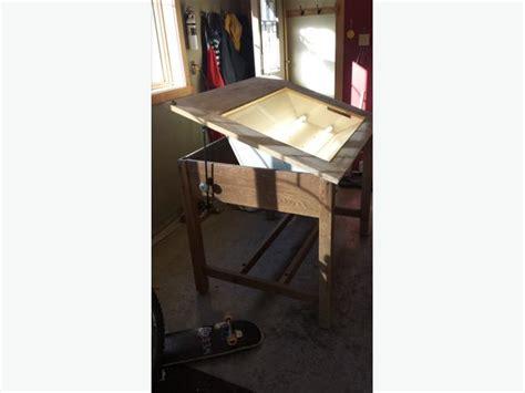 backlit drafting table backlit drafting table mill bay cowichan