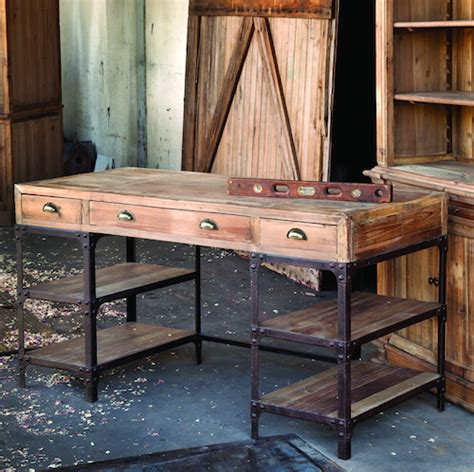 wood and metal teagan desk wood look 4 less and steals and deals