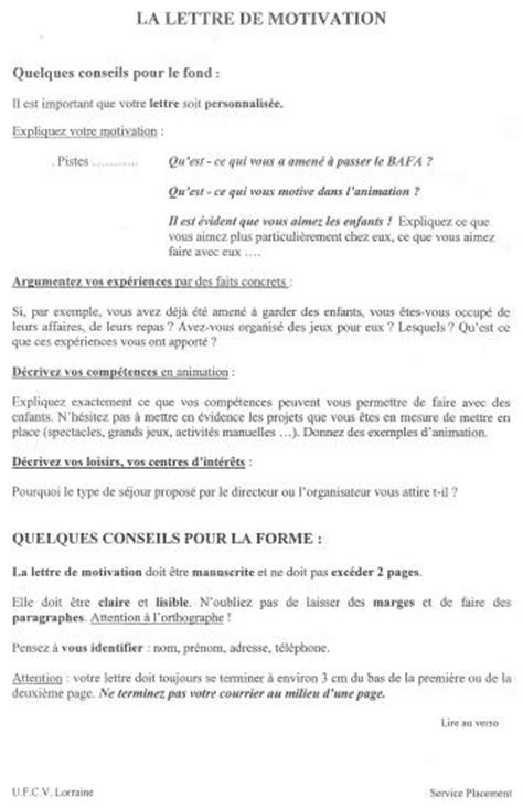 Lettre De Motivation Stage Pratique Bafa Lettre De Motivation Bafa Lettre De Motivation 2017
