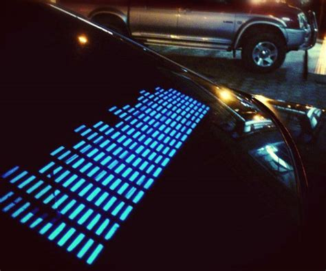 led light sound activated sound activated led car sticker dudeiwantthat