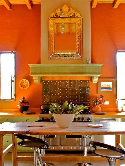 1000 ideas about orange kitchen walls on orange kitchen burnt orange kitchen and