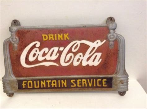 coca cola bench worth drink coca cola fountain cast iron bench sign antique