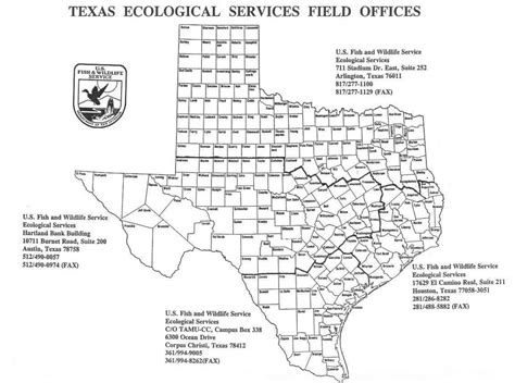service county texas map endangered species clear lake ecological services southwest region fish and wildlife service
