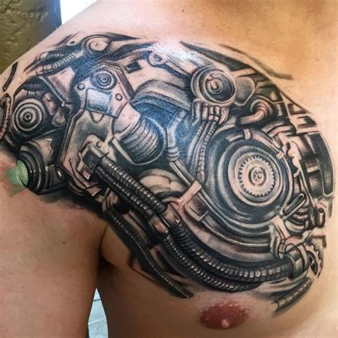 biomechanical chest tattoo designs 75 best biomechanical designs meanings top of