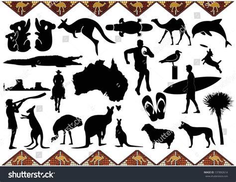 Email Address Search Australia Australia Icons Stock Vector Illustration 137892614