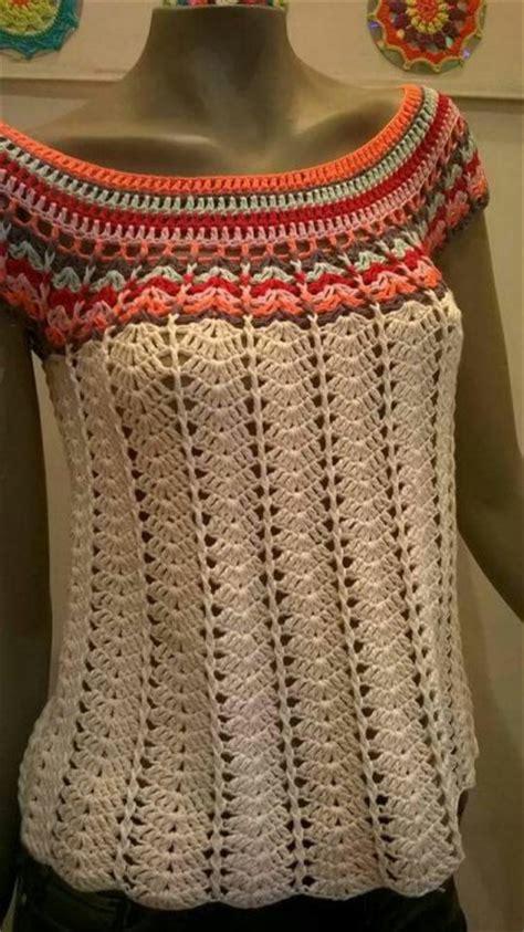 blusa vermelha de crochet crochet clothing pinterest hermosa blusa en crochet crochet