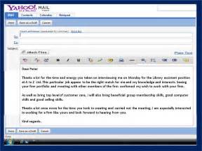 how to get a email thank you note after