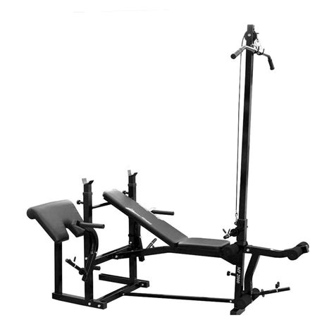 bench press with leg curl new lifespan mf2000 home fitness gym bench press lat
