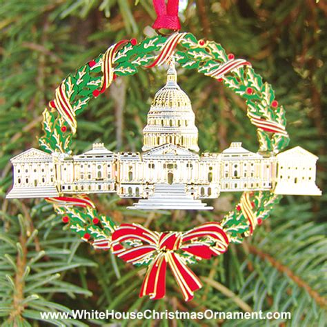 1980 white house christmas ornament 1995 u s capitol wreath ornament