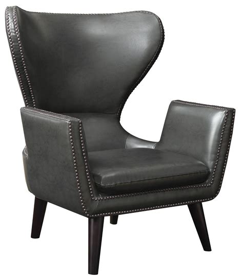 High Back Accent Chair High Back Leatherette Accent Chair From Coaster 902409 Coleman Furniture