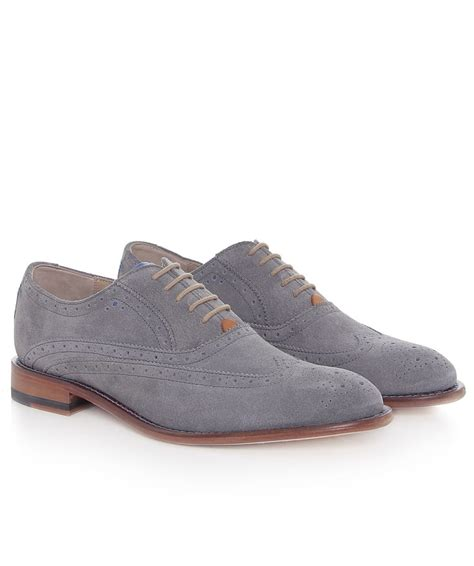 mens grey oxford shoes oliver sweeney suede fellbeck oxford shoes in gray for