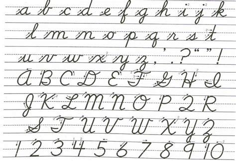 Printable Cursive Letters