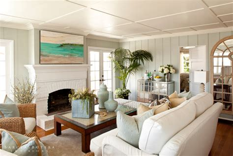 Modern rustic beach cottage turnberry lane beach style living room