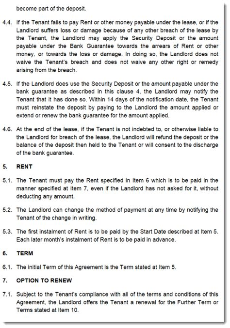commercial property lease agreement free template commercial property lease agreement template