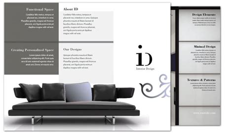 tri fold brochure template for interior design order