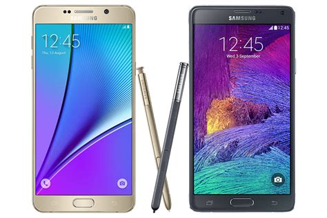 review samsung galaxy note 5 vs galaxy note 4 specs difference