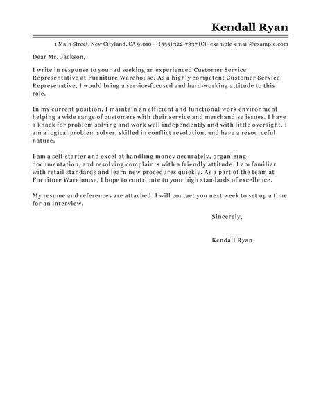 cover letter exles for customer service and retail